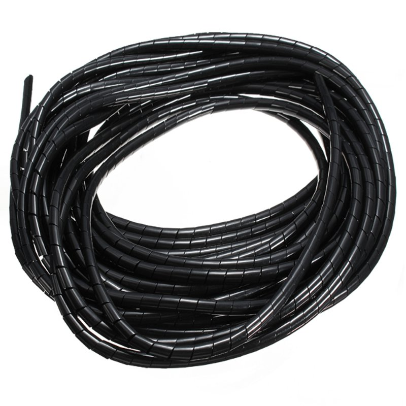 10 meters Spiral Tube Flexible Cord PC Home Cinema Cable Wire Organizer Wrap Management black White Blue New Arrival 2m 20mm diameter spiral wire organizer wrap tube flexible manage cord for pc computer home bundling hiding cable w clip white