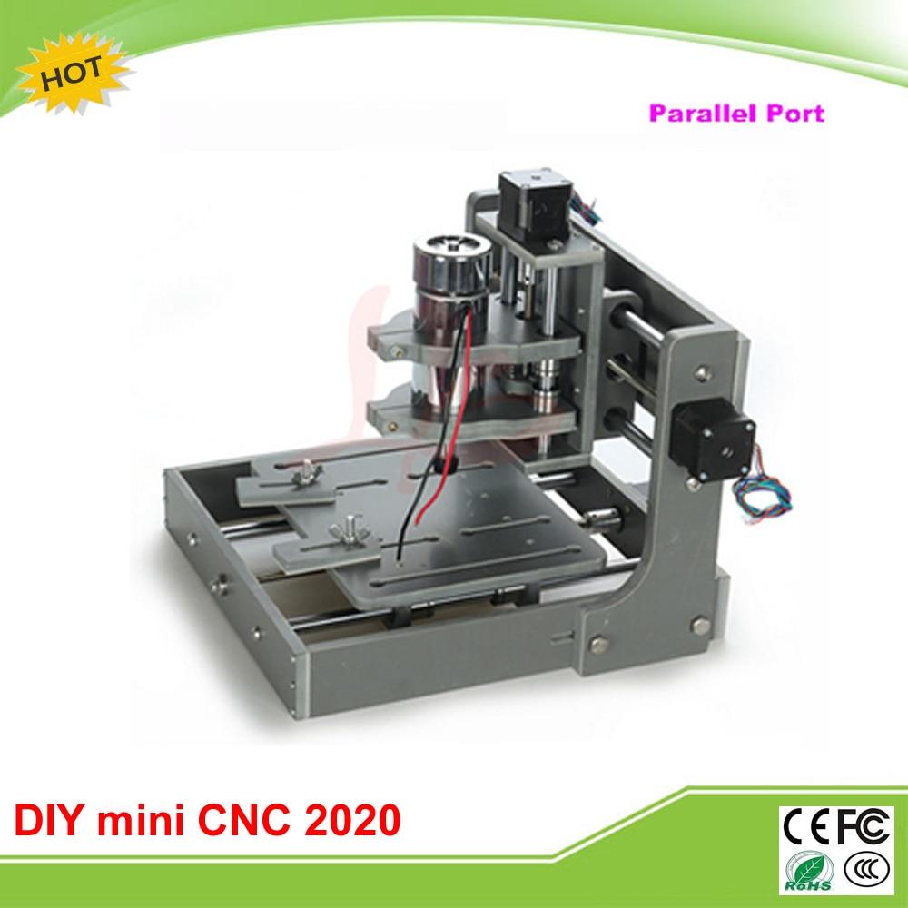 DIY mini CNC router machine 2020 Parallel port mini cnc milling machine free tax to RU eru free tax 4pcs diy cnc router 2020 frame with motor engraving drilling and milling machine
