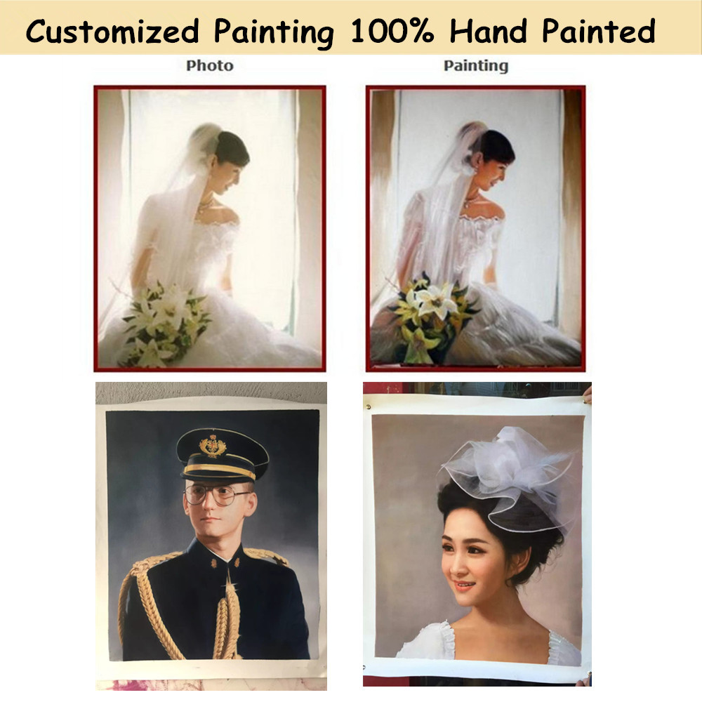 Customize Photo Picture to Canvas Painting Art Portrait Animal Oil Painting for Home Decor Hand Painted High QualityCustomize Photo Picture to Canvas Painting Art Portrait Animal Oil Painting for Home Decor Hand Painted High Quality