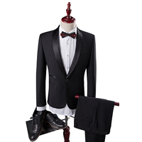 2017 New Seasons Men S Black Suit Business Suits Slim Code Occupation Suit Groom Wedding Dress