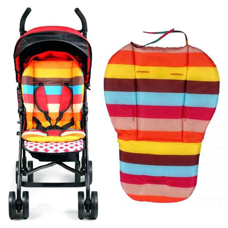 เด็กที่มีสีสันรถเข็นเด็กเบาะที่นั่งรถเข็นเด็กเก้าอี้สูง Pram รถนุ่มที่นอนเด็กรถที่นั่งรถเข็นเด็กอุปกรณ์เสริม