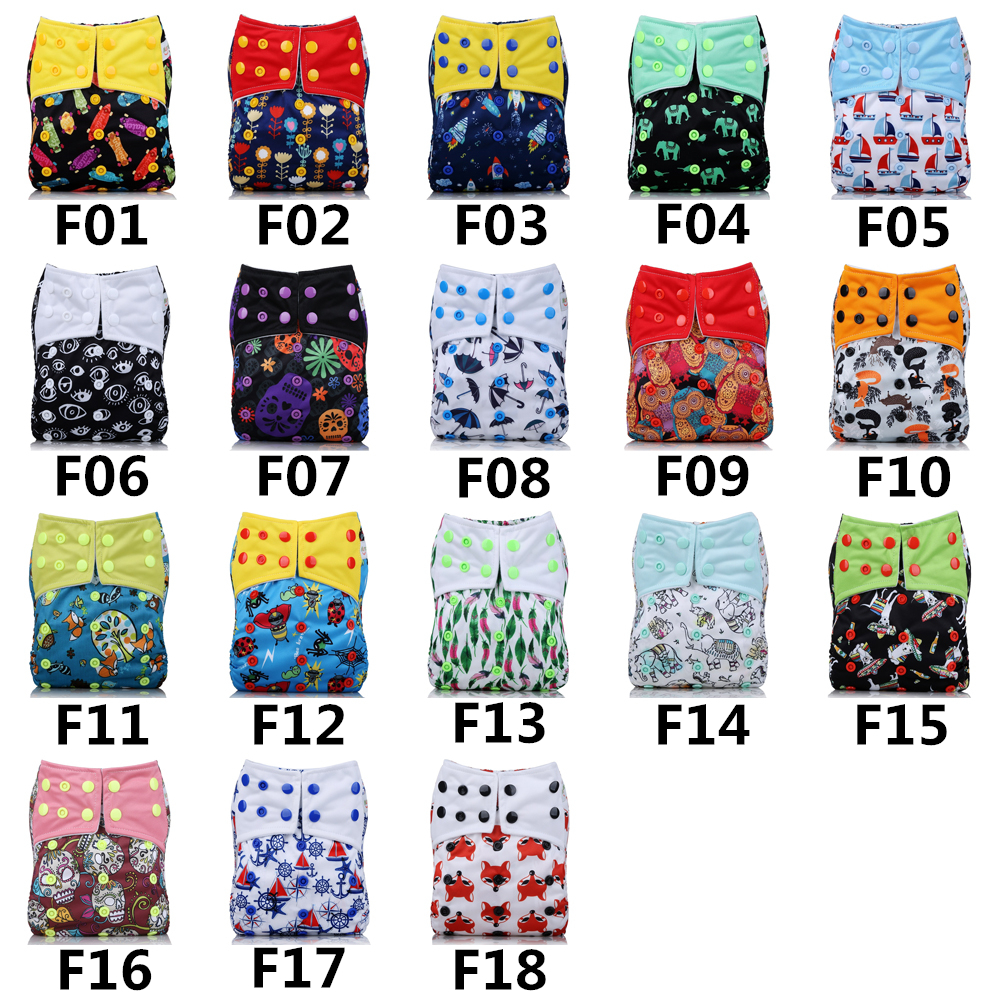 2018 New arrival Baby Cloth Diapers Adjustable Cartoon Foxes Cloth Nappy Washable Waterproof Reusable Babies Pocket Nappies