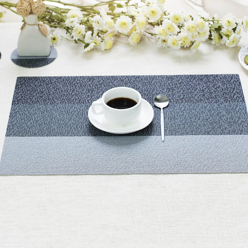 2Pcs Coasters Table Mat Placemat Hand-woven Thick Table Pad Heat-insulation Mats&Pads fo ...