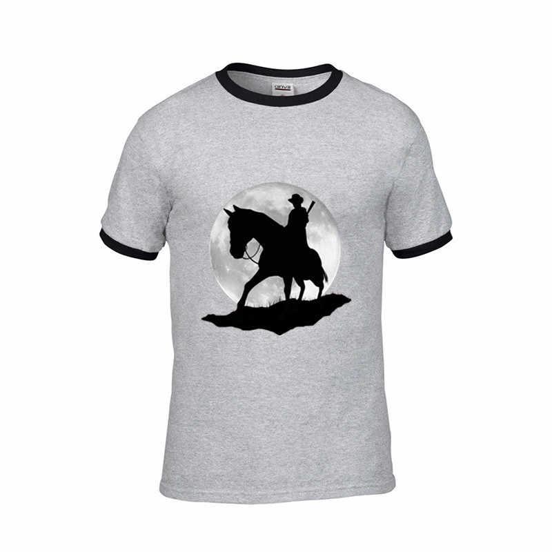 2019 ストリート償還で乗り物ナイトレッドデッド 2 ゲームムービー男性おかしい Tシャツ誕生日ギフト綿の男性 tシャツ黒 tシャツ