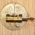 1 Pc Bronze Antigo Caixa de Jóias Chinês Velho Bloqueio + 1 Pc Caixa De Madeira Do Vintage Gabinete Puxar Lidar Com Acessórios Para Móveis Hardware Retro