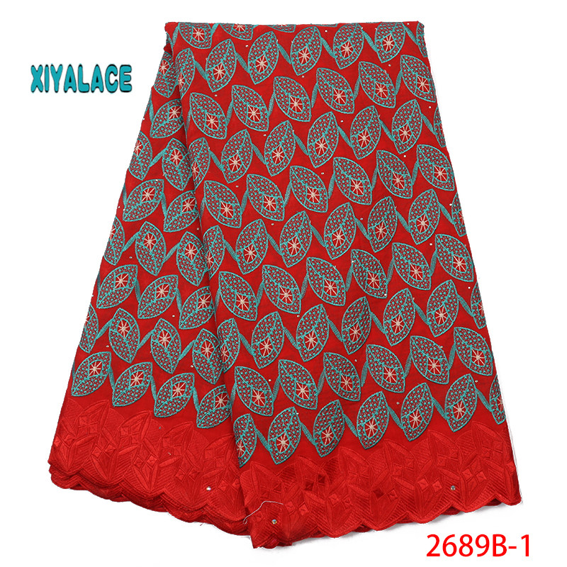 French Lace Fabric 2019 High Quality Swiss Voile Lace Cotton Lace Best Nigerian African Lace Fabrics For Women Dress YA2689B-1