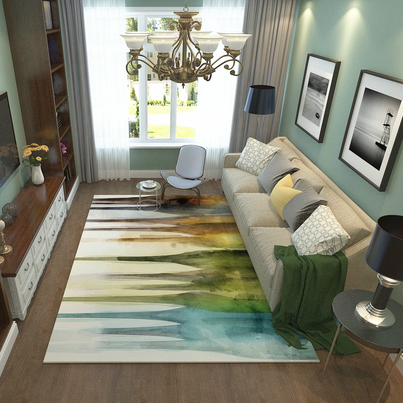 Tapis de maison méditerranéen style européen et américain salon table basse étude tapis chambre chevet plein magasin tapis