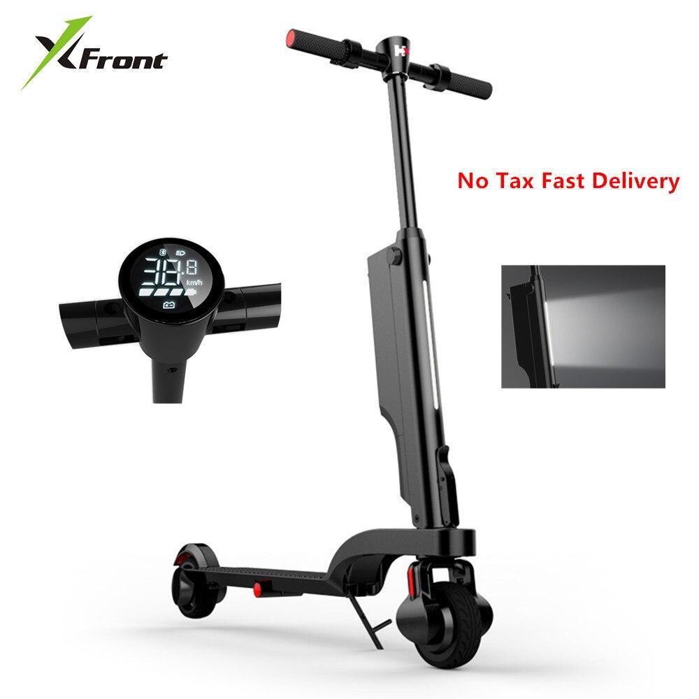 Nouveau scooter électrique de marque avec Bluetooth Sound 200 W 24 V mini vélo électrique pliable électrique pour adultes par Smartphone APP
