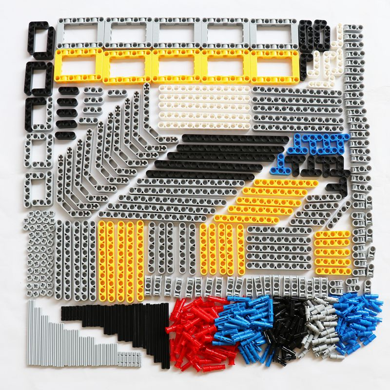 540PCS Bulk Building Blocks Bricks MOC Toys Technic Liftarm Beam Axle Connector Axle Legoes Technic Parts Truck Car Accessory-in Blocks from Toys & Hobbies
