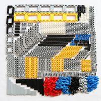 ZXZ 540PCS Bulk Building Blocks Bricks Toys Technic Liftarm Beam Axle Connector Compatible With Legoes Technic Parts Accessory
