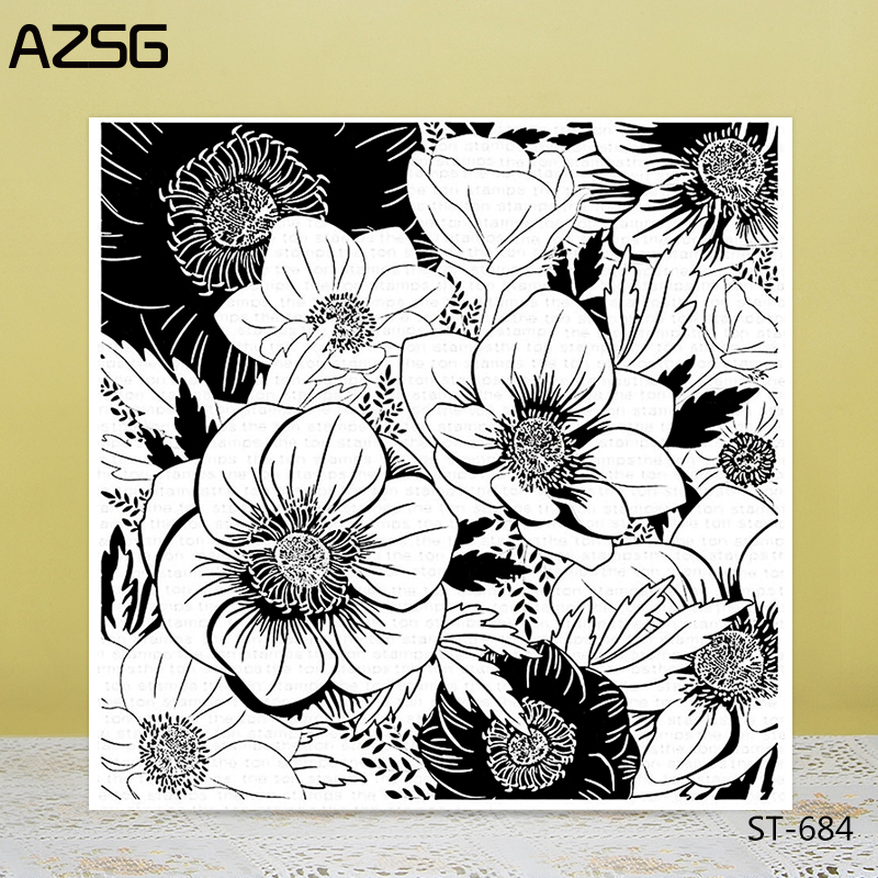AZSG Blooming Rose Lily Flowers Clear Stamps Seals For DIY Scrapbooking Card Making Album Decorative Silicone Stamp Crafts in Stamps from Home Garden