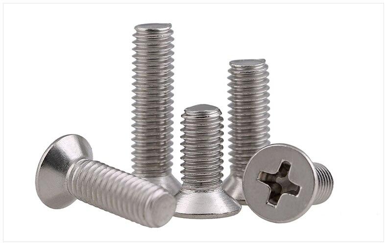 M3 304 Cadre de fer fixe de boulon /à six pans creux en acier inoxydable ensemble boulon et /écrou /à six pans m/écaniques r/ésistant /à la rouille
