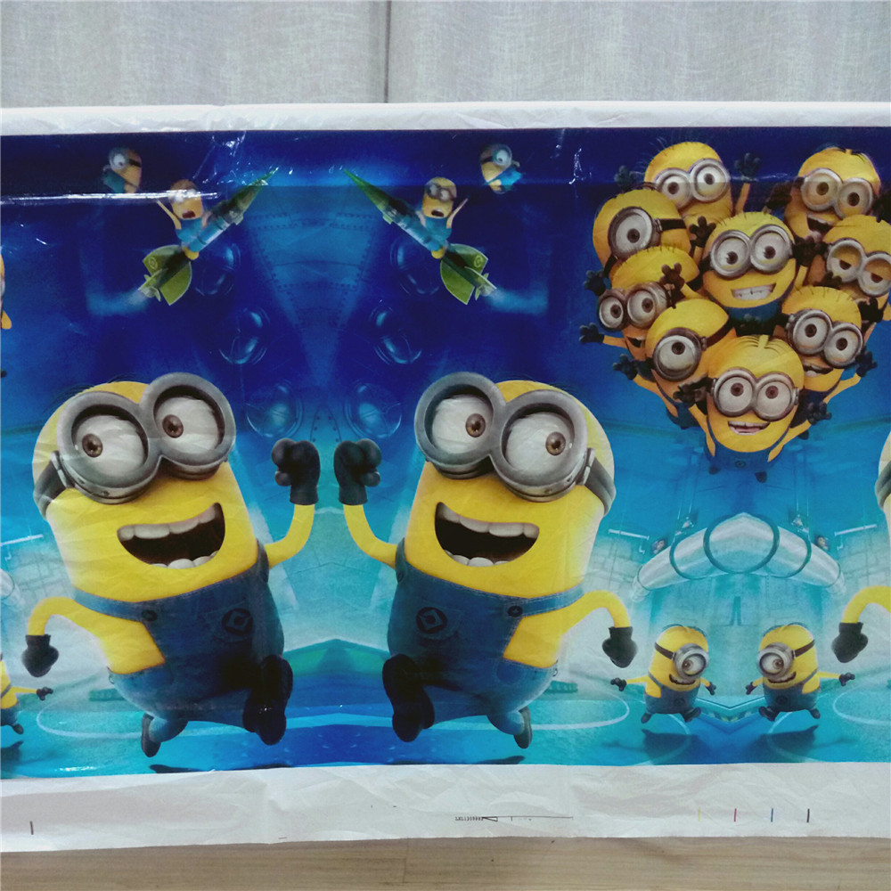 1pcs Set Disposable Tablecloths Kids Minions Theme Birthday Party Decoration Event Supplies Table Cover Size 108x18M In Tableware From