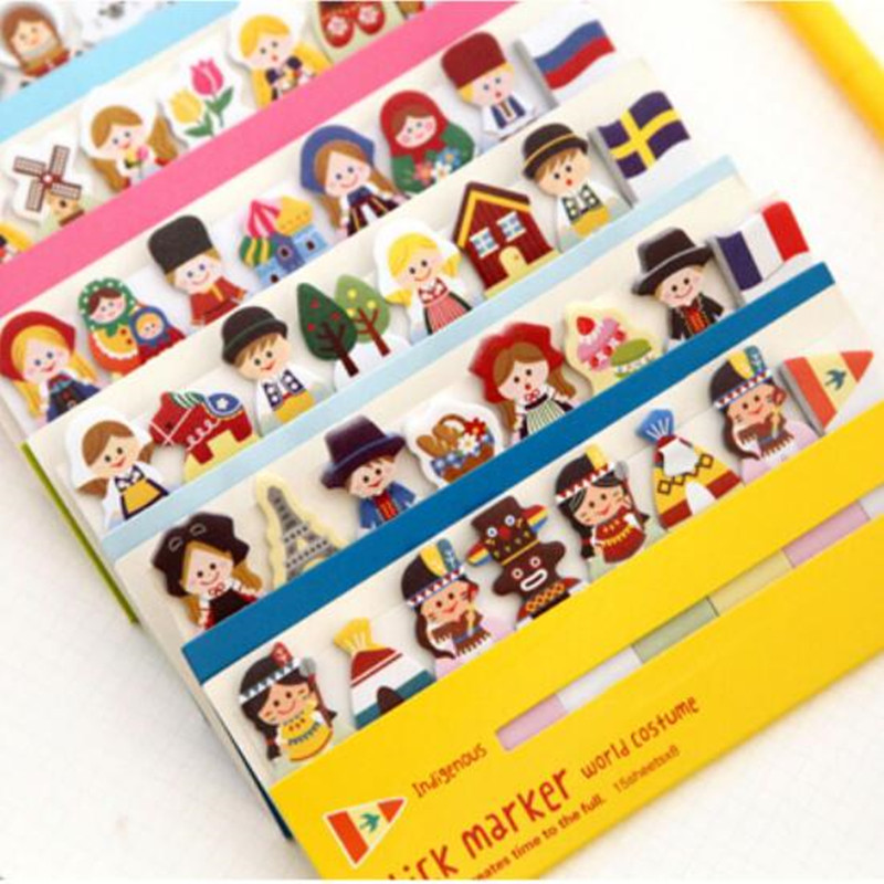 Mini Cute Kawaii Doll Memo Pad Paper Sticker Lovely Tree Post It Note For Kids Student Gift School Supplies Student 283