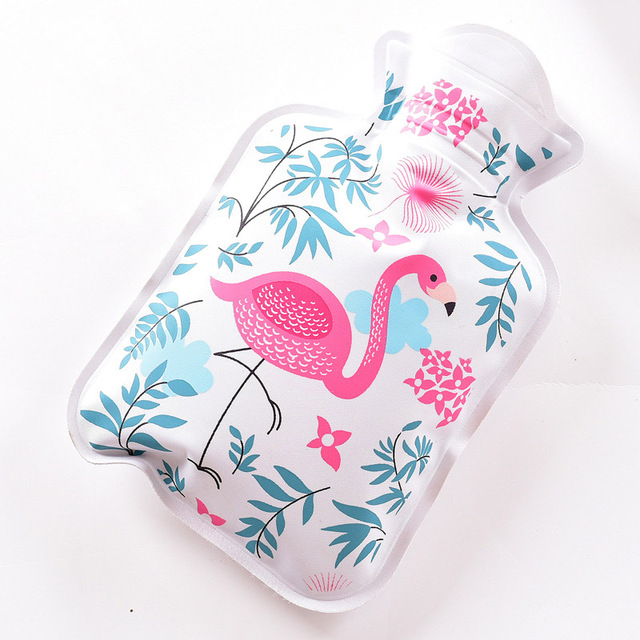 Mini Handy PVC Water-filled Type Warm Hand Treasure Cartoon Hot Water Bag Bottle Container E2S