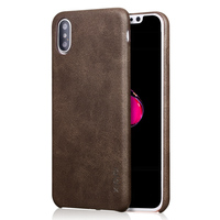 X Level PU Leather Business Style Phone Cases For Iphone X Drop Protection Leather Phone Case