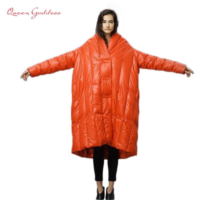 2016 original design winter down jacket women fashion range long loose mantle down coat high quailty parkas warm outwear