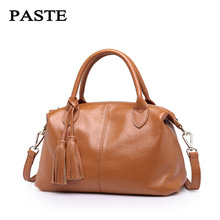 New 2017 Women leather Shoulder Bag Shell Bags Casual Handbags small messenger bag fashion 100% genuine leather free shipping