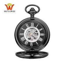 Original Fashion Brand OYW Mechanical Pocket Watch Men Male Full Steel Case Chain Pocket Fob Watch Analog Retro Vintage Relogio(China)