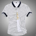 New Hot 2017 Summer Men's Shirts Casual Plaid Shirt