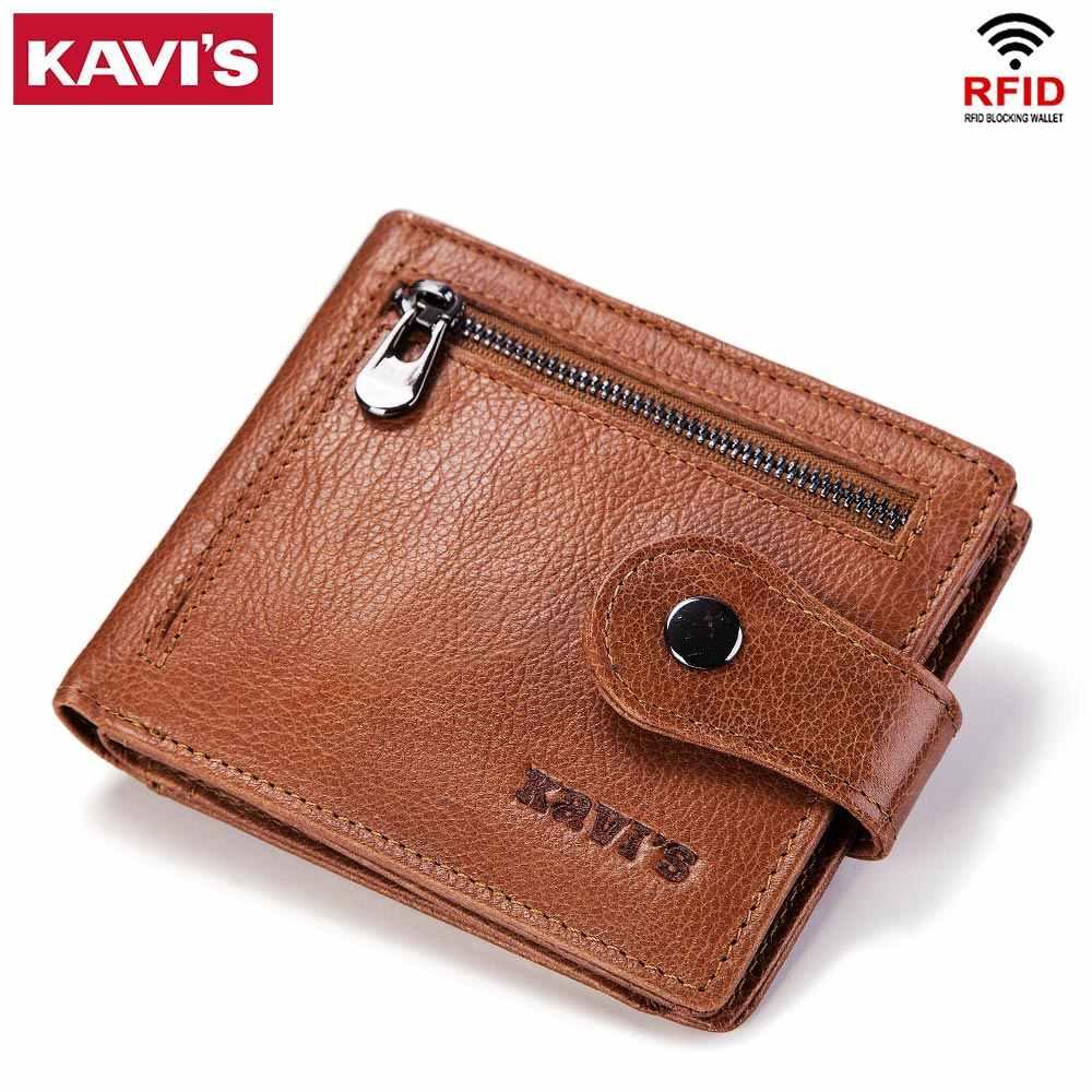 KAVIS Rfid Wallet Men Coin Purse Male Clutch Genuine Leather Mens Small  Walet Portomonee PORTFOLIO Perse 0bee3f10b8d3