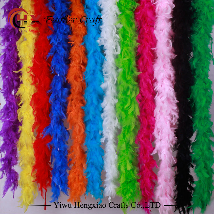 2 yards 35g pollo Feather Strip Turkey Feather Boa per matrimonio festa di compleanno decorazioni per matrimoni accessori di abbigliamento