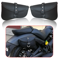 Motorcycle Saddle bags PU Leather Swingarm Bag Motorcycle SaddleBags Side Tool Bags Storage For Harley Sportster 883 1200XL