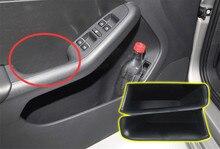 4 unids manija de puerta de coche contenedor caja de almacenamiento apoyabrazos card phone holder organizador recorte para volkswagen vw tiguan 2009-2014