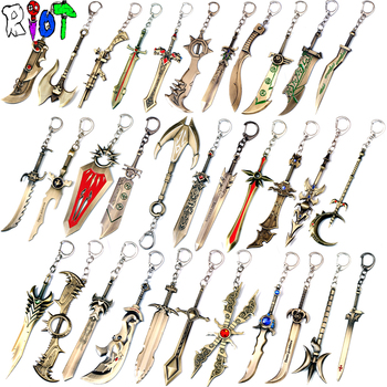 33 types Hero alliance keychain League of Legends weapons model