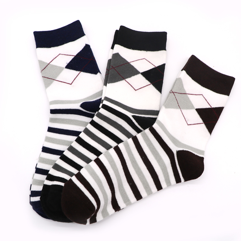 5Pairs Lot 3D Mens Socks Male Striped Socks Mens Socks Calcetines Hombre Breathable Mens Casual Male Long Socks Warm