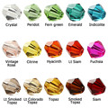 Czech Seed Bicone Bead (230/LOT) 4mm Colorful Crystal Bicone Beads Pick Color DIY Jewelry Faceted Glass Crystal Beads  Spacer