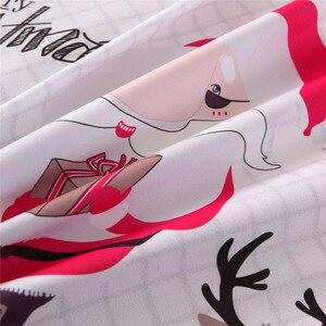 Image 5 - Weihnachten Bettwäsche Sets 2/3 stücke Cartoon Bettbezug set Santa Claus Single/Königin/König Größe bettwäsche Bettwäsche