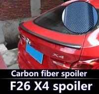 Для BMW F26 X4 спойлер 2015 2018 F26 X4 alta calidad ABS Материал Ала автомобиля trasera первоклассника Цвет спойлер из углеволокна