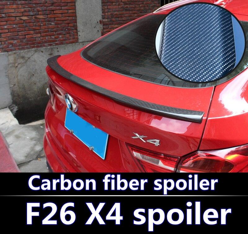 Pour BMW F26 X4 Spoiler 2015-2018 F26 X4 alta calidad ABS matériau voiture ala trasera apprêt couleur spoiler fibre de carbone spoiler
