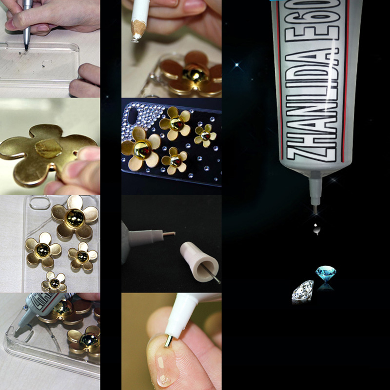 110ml Liquid E6000 Glue Super Glue Strong Adhesive For Metal Fabric Rhinestones Jewelry Crystal Glass Craft Phone Screen