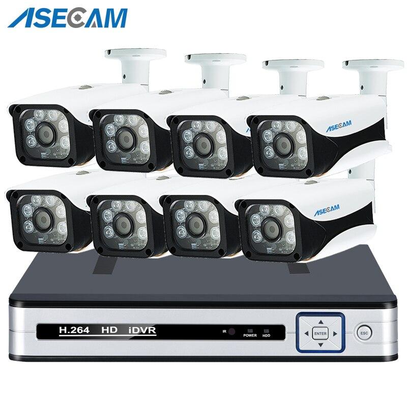 Super 8CH 5MP 4 k HDMI H.265 POE NVR Kit DE VIDÉOSURVEILLANCE Système Extérieur IP66 Caméra IP P2P Surveillance De Sécurité détection de mouvement