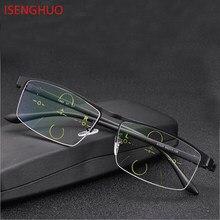 77f888163 ISENGHUO High-end Homens de Negócios óculos de Sol Fotocromáticas  Progressiva Foco Multi Óculos de