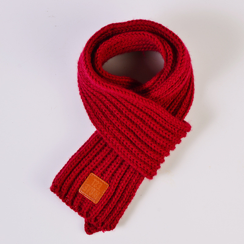 Cute Kids Boys Girls Winter Scarf Pompom Baby Scarf Warm Scarves Knitting Wool Neck Warm Elastic Toddler Accessories