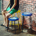 Loft american vintage bar stool iron beer cover style bar stool seat decoration
