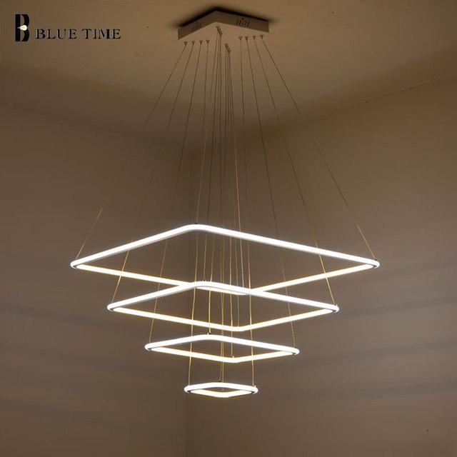 80 CM 60 CM 40 CM Moderne 3 Quadrat Ringe LED Pendelleuchten Für Wohnzimmer  Esszimmer Pendelleuchte