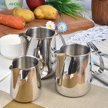 Hohe Qaulity Edelstahl Espresso Kaffee Krug Barista Handwerk Kaffee Latte Milchaufschäumung Krug 350 ml 500 ml 700 ml