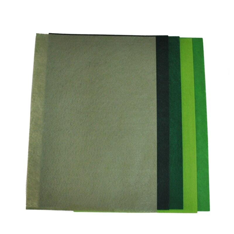 e4087bb728 QITAI 5 colores conjunto no tejida 10 piezas hojas de fieltro de fibra  gruesa de los niños DIY tejido cuadrado bordado verde scrapbooking