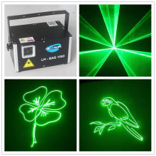 LH-SAG1000 1000mw Professional ILDA Green DMX Laser Party Performance Stage Laser Lighting Projector with SD Card(China)