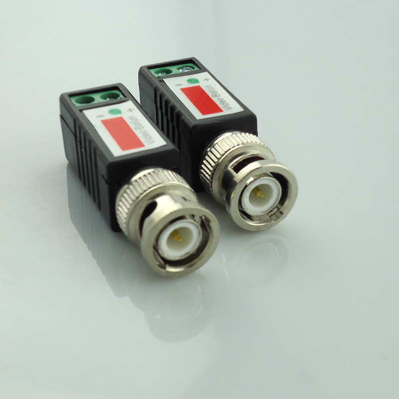 Gakaki 10Pair Cctv Twisted Bnc Passive Video Balun Transceiver Bnc Male Coax Cat5 Camera Utp Cable Coaxial Adapter For Cctv Cam