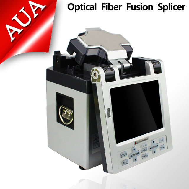 Envío Libre de DHL Inglés versión Automática FTTH Fibra Óptica Máquina de Empalme De Fusión De Fibra Óptica Splicer