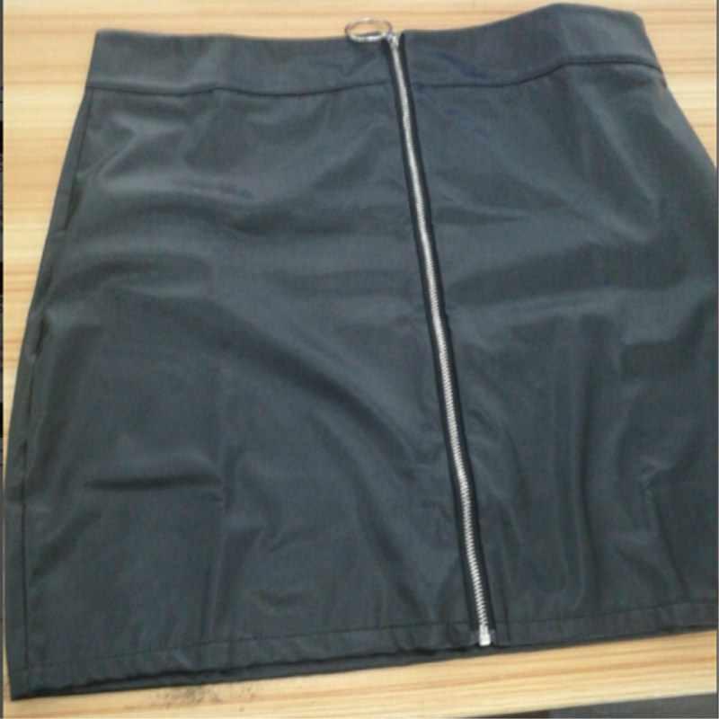 Fashion Wanita Hot Sale PU Kulit Pensil High Waist Mini Pendek Rok Stretch Pesta 5 Warna Ukuran S-XL