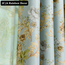 Luxury Floral Blackout Curtains for The Living room Bedroom European Elegant Home Decorative Window Curtain Blinds Drapes fabric