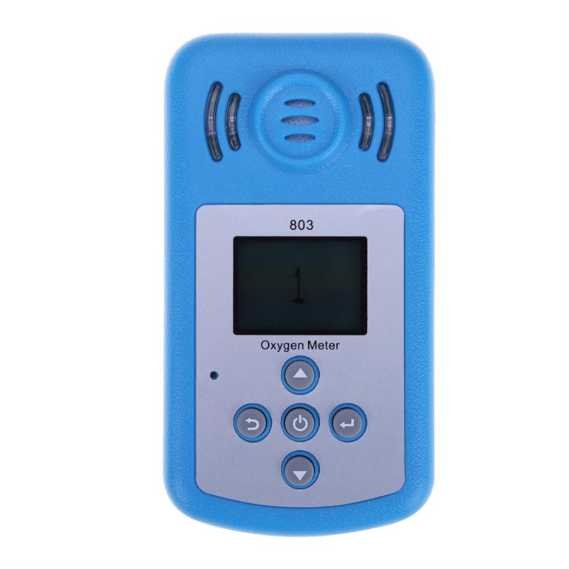 Professional Handheld Oxygen Concentration Detector Mini Oxygen Meter O2 tester Gas Analyzer with LCD Display Sound-light Alarm 2016 new handheld formaldehyde gas detector sound alarm gas analyzer