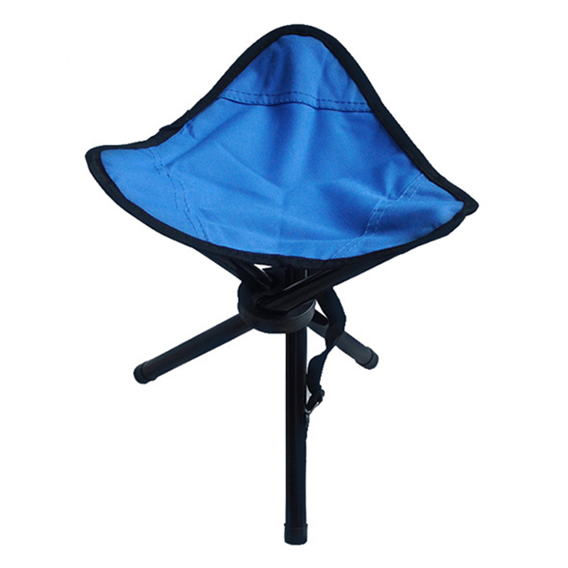 Blue Outdoor Chair Stools Portable Foldable Triangular Small Size Fishing Picnic Beach H193-3 fishing chair beach chair portable folding stools chair cadeira max load bearing 150 kg