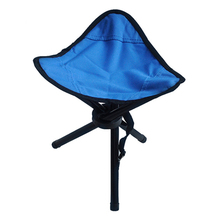 Blue Outdoor Chair Stools Portable Foldable Triangular Small Size Fishing Picnic Beach H193-3